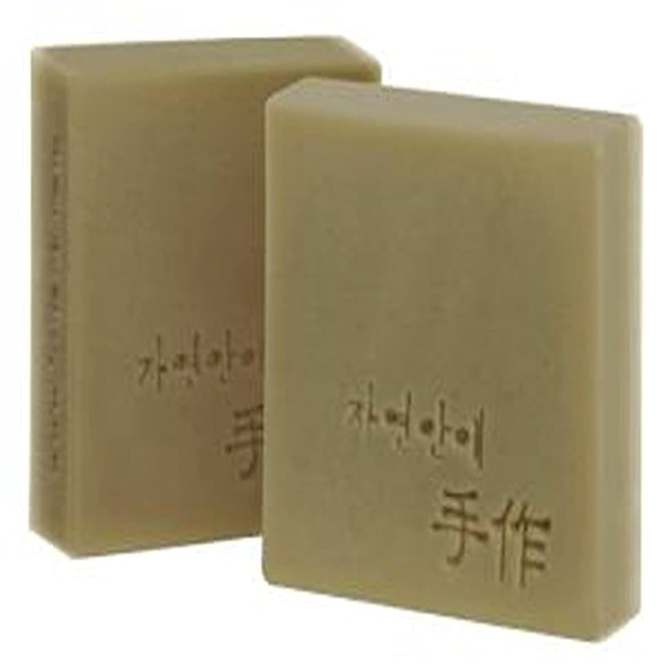 ちょっと待ってシプリー上へNatural organic 有機天然ソープ 固形 無添加 洗顔せっけんクレンジング 石鹸 [並行輸入品] (米ぬか)