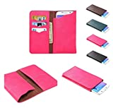 DFV mobile - 財布と垂直カバー プレミアム合成皮革ケース => Bluboo Xtouch > ピンク