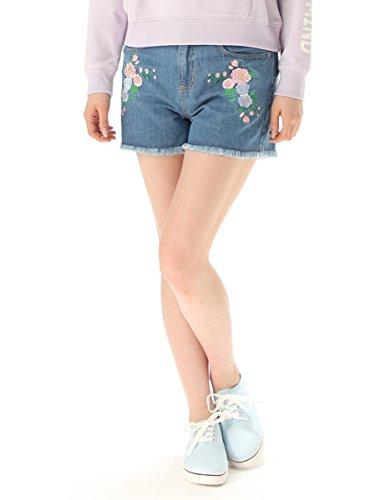 (ハニーズ コルザ)Honeys COLZA 刺繍入りショートパンツ ピンク花柄 L