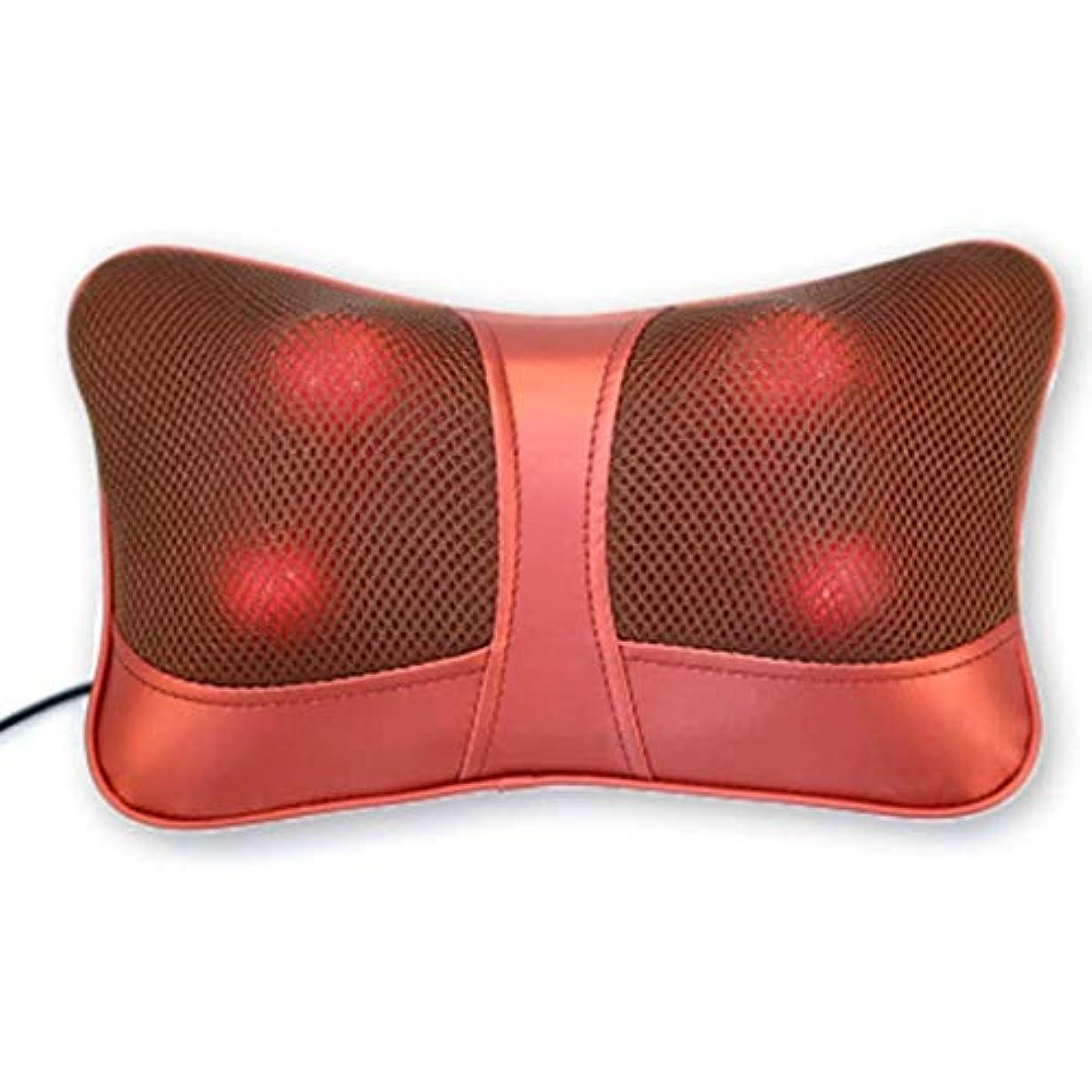 亡命葉巻キリマンジャロマッサージ枕、指圧首マッサージャー、3Dスクワットマッサージ枕、熱処理と暖かいハンドバッグ、首、肩と背中の疲れを和らげるのに適した