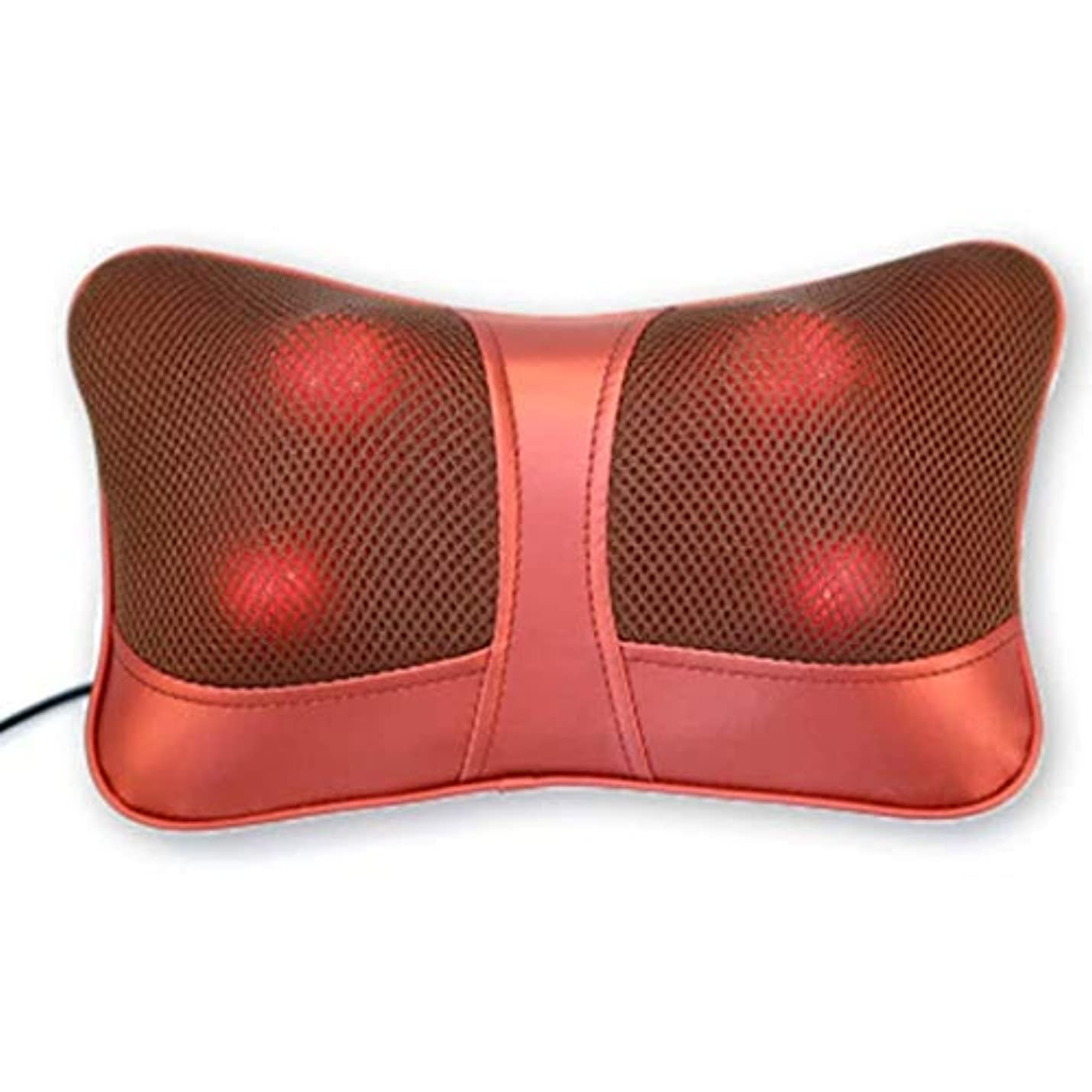 駅窒素おもしろいマッサージ枕、指圧首マッサージャー、3Dスクワットマッサージ枕、熱処理と暖かいハンドバッグ、首、肩と背中の疲れを和らげるのに適した
