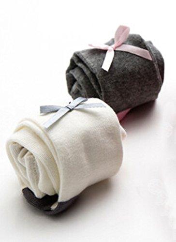 コットンの子供ベビータイツ ガールズ 赤ちゃん ストッキング 女の子 レギンス 新生児 パンスト (ホワイト0-6ヶ月)