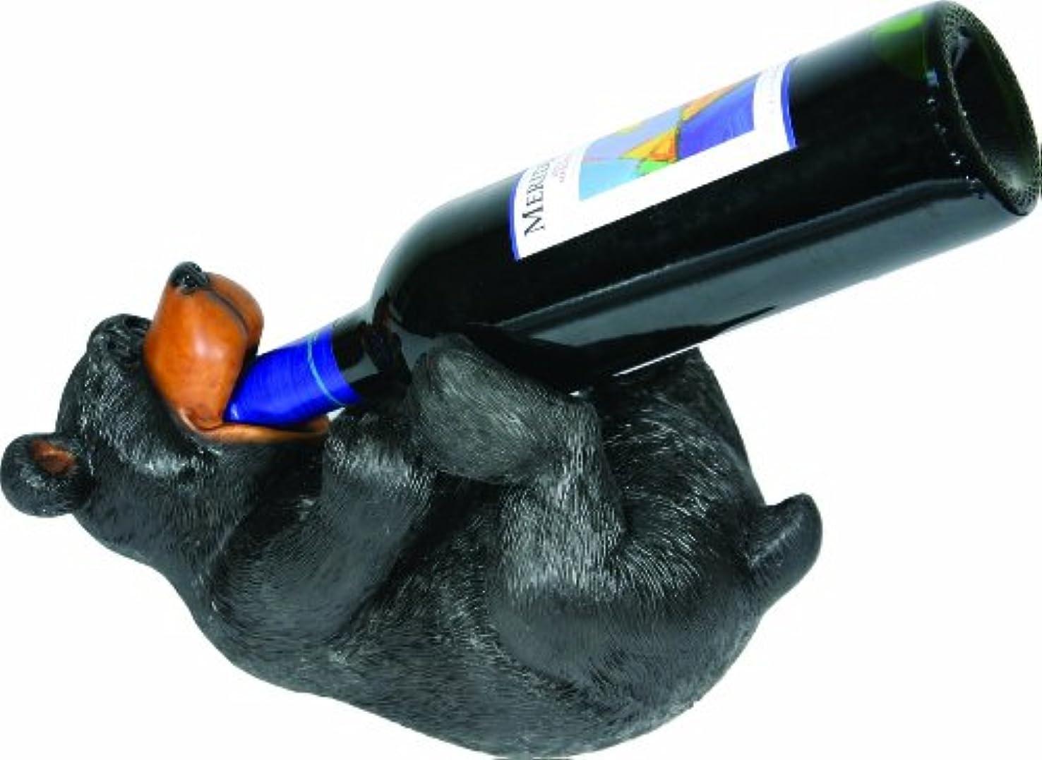 二層焦げ遊具Rivers Edge ハンドペイント 風変わりなクマ ワインボトルホルダー