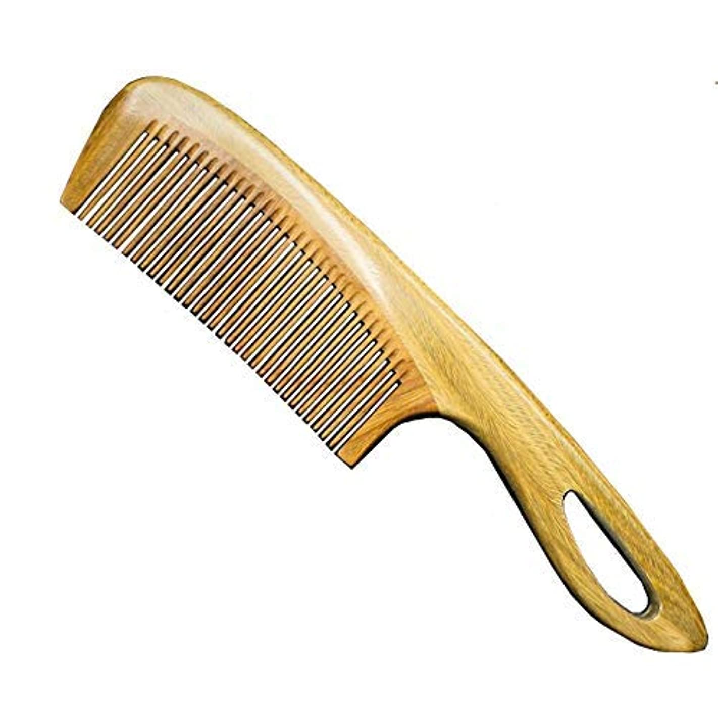 Natural Sandalwood Wood Comb - No Static Fine Tooth Hair Comb - Natural Aroma, Handmade, Massage Head, Hair Care...