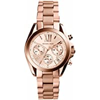 Michael Kors Women's Rose Goldtone Mini Bradshaw Watch