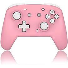 【女子の選択】Switchコントローラー ワイヤレス スイッチコントローラー 連射 ジャイロセンサー 振動(ピンク+ホワイト)