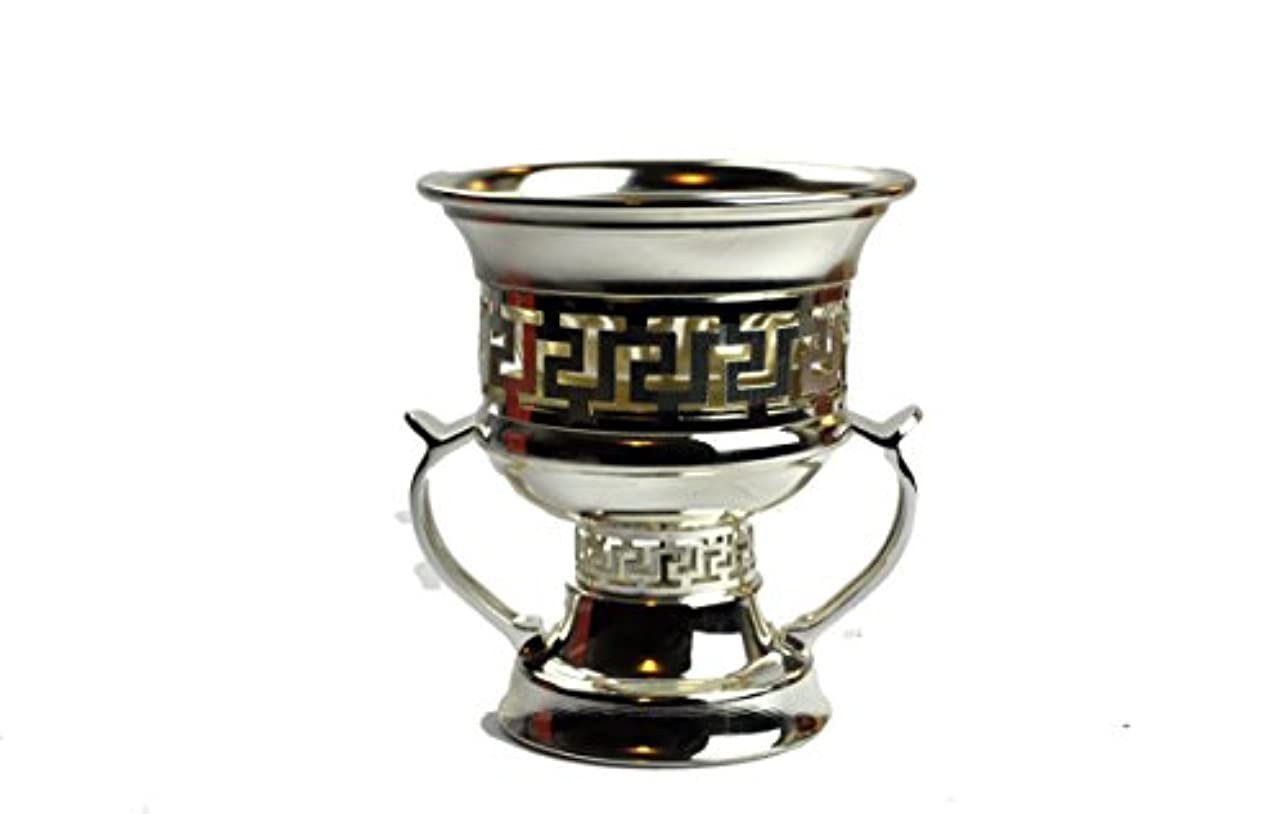 漏斗ポーター大通りArabia Incense / bakhoor Burner ( Mabkhara ) – Oud Burner、メタル、トレイInside - 5インチ。 – USA Seller 9inc. シルバー