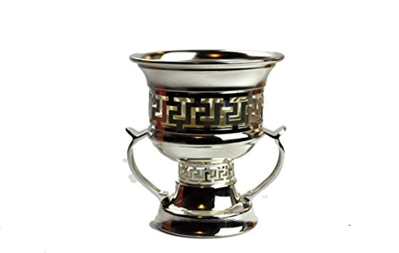 ゴム説明する著者Arabia Incense / bakhoor Burner ( Mabkhara ) – Oud Burner、メタル、トレイInside - 5インチ。 – USA Seller 9inc. シルバー