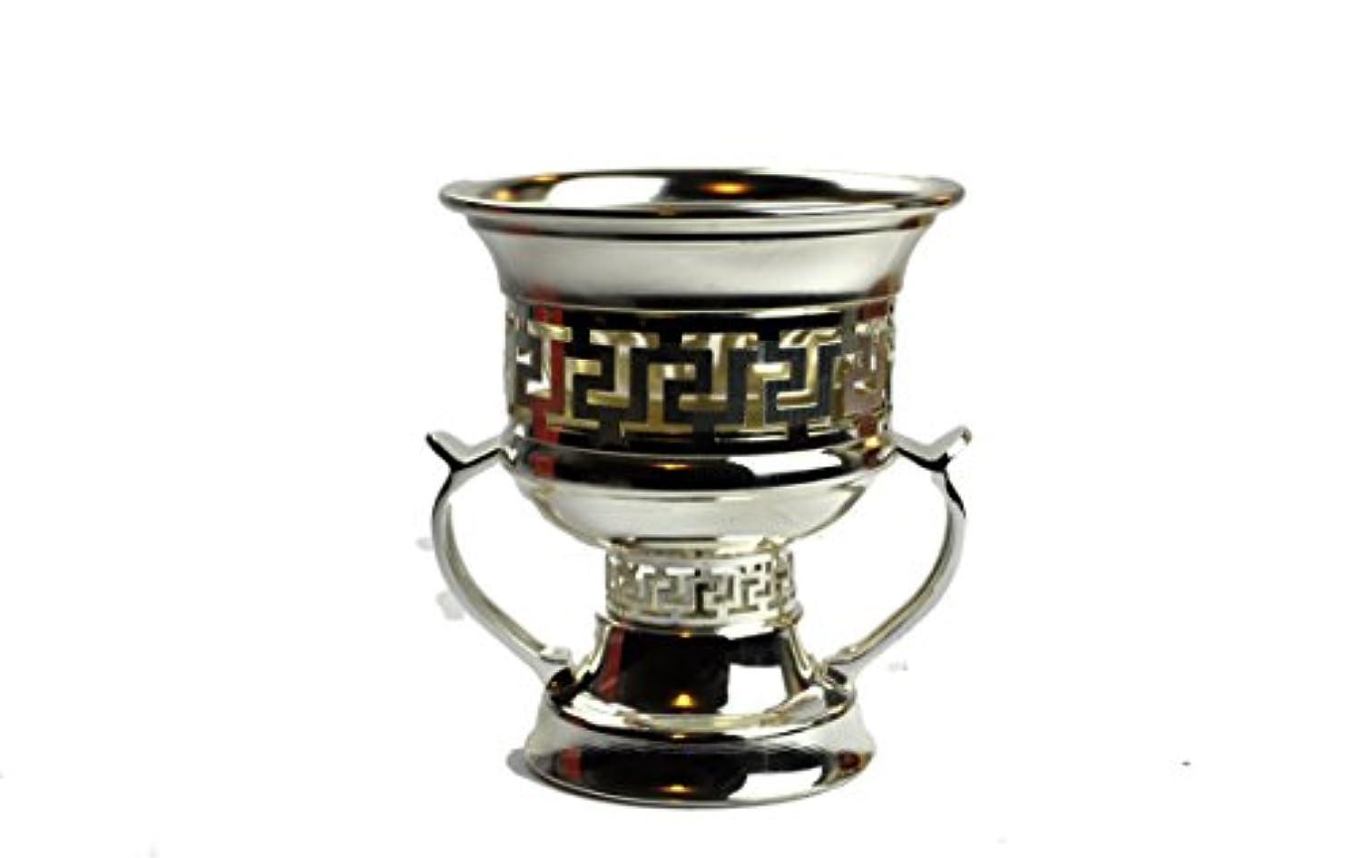 放射能薬局わずかにArabia Incense / bakhoor Burner ( Mabkhara ) – Oud Burner、メタル、トレイInside - 5インチ。 – USA Seller 9inc. シルバー