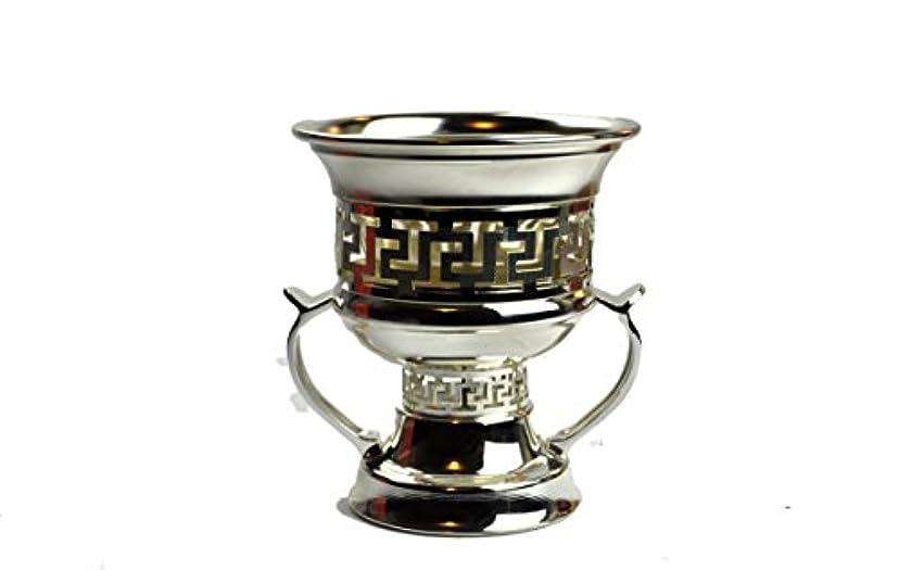 資本レンディション実施するArabia Incense / bakhoor Burner ( Mabkhara ) – Oud Burner、メタル、トレイInside - 5インチ。 – USA Seller 9inc. シルバー