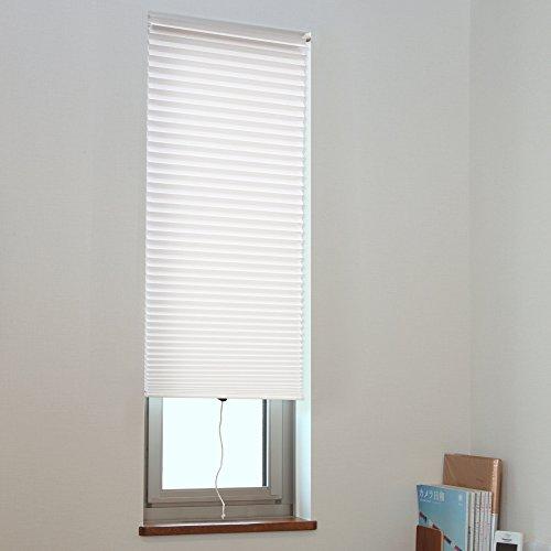 ブラインド つっぱり式 小窓用(スリット窓) 断熱スクリーン おしゃれ ホワイト W35×H90cm 1枚