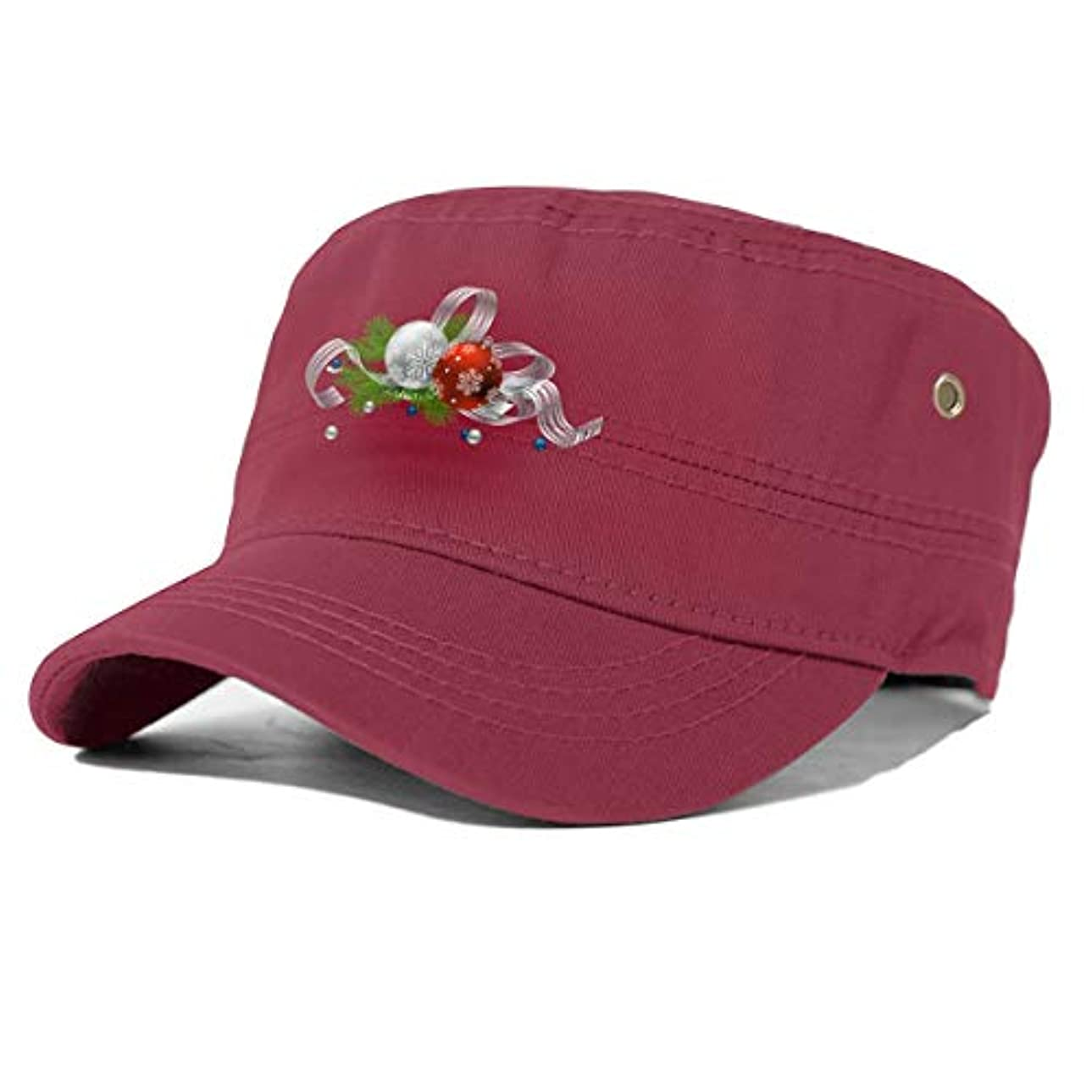 操作可能意図的操作可能大人のフラットキャップ帽子曲げる綿男女通用 Essential Oil Christmas Tree Black