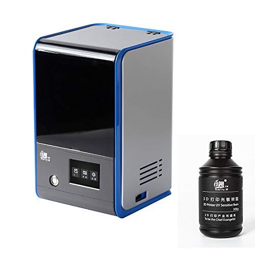 Creality 3D (感光性樹脂付き)光造形式 3Dプリンター 2K 高精度 LCD 3Dプリンタ LD-001 UV-LED LCD masking LCD光硬化 高精度印刷 50W 20mm/高速印刷 47umX、Y解像度 LED 構成UV一体化ビーズ 硬質感光性樹脂 TFカード、WiFiサポート 革新的なトラフ より簡単なレベリング 高速スライス オフライン印刷 3.5inchフルカラータッチスクリーン 宝石 歯科 建築 工業 ゲームモデル すべての業界向け