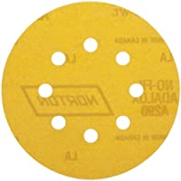 Norton A290 No-Fil Adalox NorGrip Abrasive Disc, Light Weight Paper Backing, Hook-and-Loop, Aluminum Oxide, 5 Diameter, Grit 80 (Pack of 50) by Norton Abrasives - St. Gobain