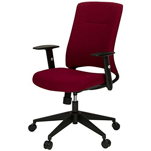 オフィスコム オフィスチェア パソコンチェア 可動ひじ付き ヘッドレストなし ボルドー LEPRO2-AM-BD