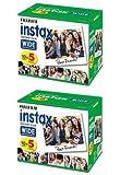 富士フイルム インスタントカラーフィルム Instax Wide 5パック×2(100枚分)