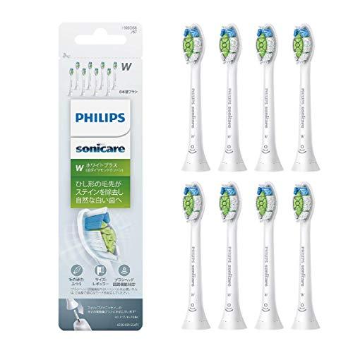 フィリップス PHILIPS ソニッケアー替えブラシ ホワイトプラス レギュラー ホワイト 8本組 HX6068/67 1個