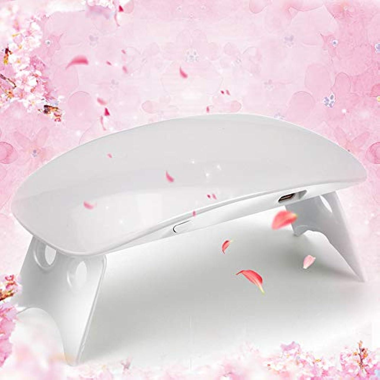 Twinkle Store 6W ホワイト ネイルドライヤー ネイルデザイン ネイルライト 硬化用ライト ネイルアートツール