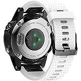 ANCOOL Compatible with Fenix 5S Bands 20mm,Quick Release Soft Silicone Strap for Fenix 6S/Fenix 6S Pro/Fenix 5S Plus Smart Watch-White