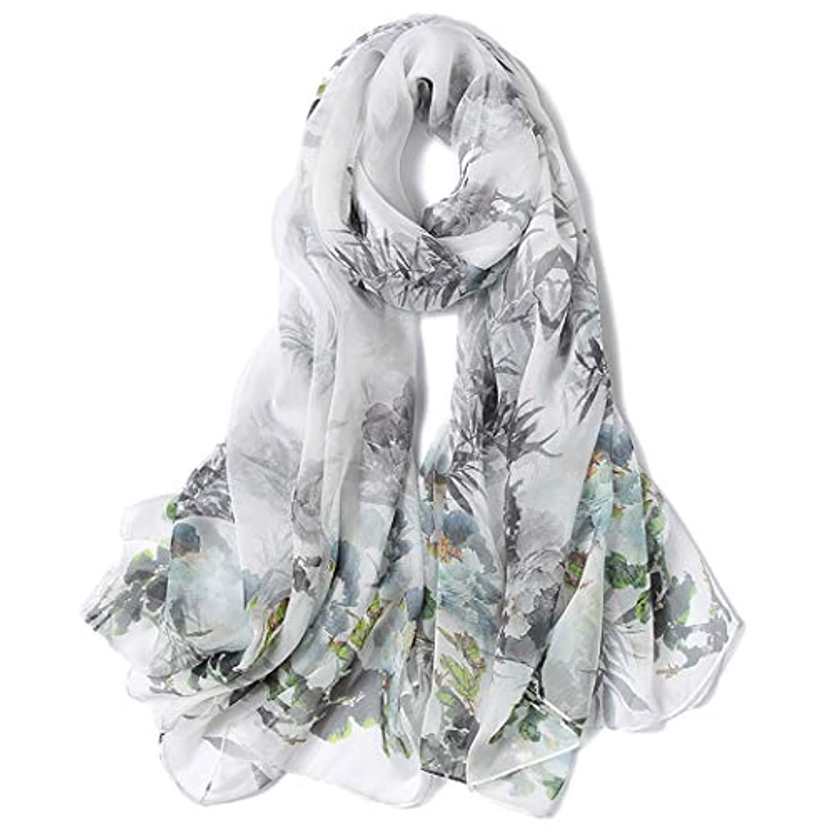 コインケーキ交流する女性の新しい絹のスカーフ、夏の日焼け止めの自然な絹のショール、秋および冬の大きいサイズの野生の長いスカーフの二重使用浜タオル、170 * 110 CM