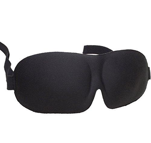 HIGASHI アイマスク 睡眠アイマスク 3D立体型 低反発 シルク質感 男女兼用 99%遮光 通気性 安眠 仮眠 旅行 良質睡眠 EMLR-001(ブラック)