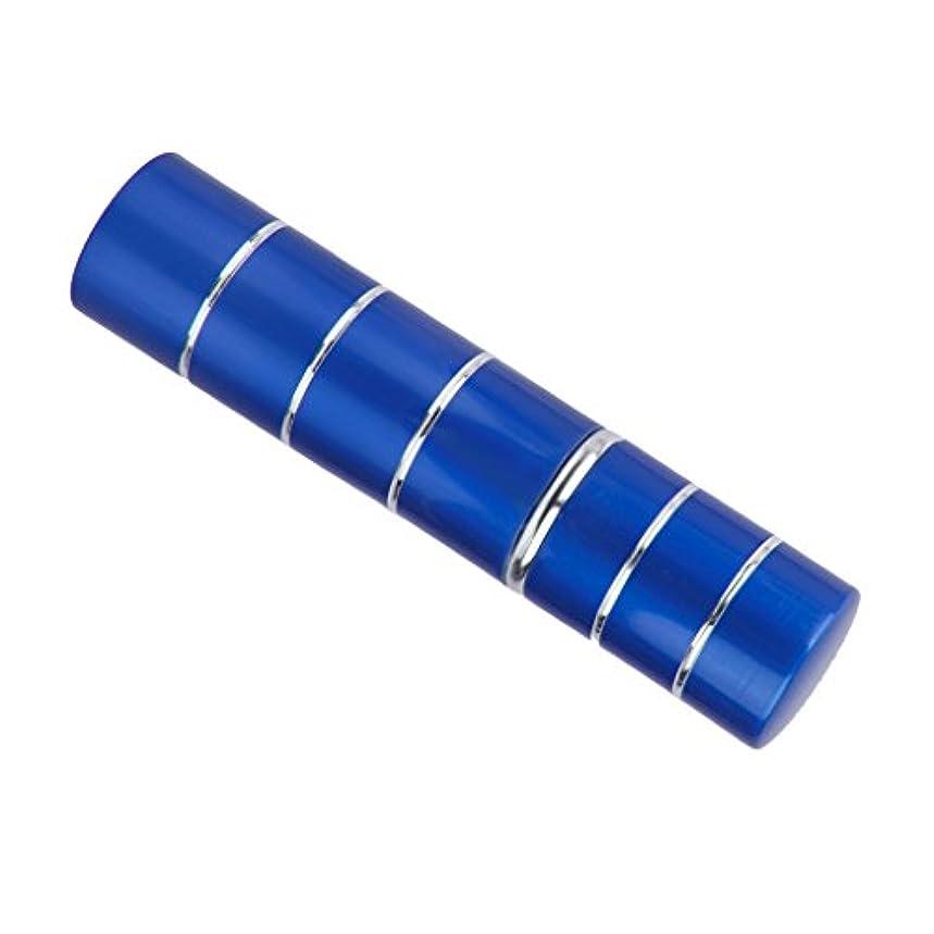 ステンレス希少性リズミカルなDovewill  旅行携帯用 ポータブル 軽量 詰め替え 香水 アトマイザーボトル ポンプ スプレーケース  - ブルー