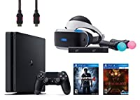 PlayStation VR Start Bundle 5 Items: VR Start Bundle,PS 4 Slim 500GB Console - Uncharted 4,VR game disc PSVR Until Dawn: Rush of Blood(米国並行輸入品)