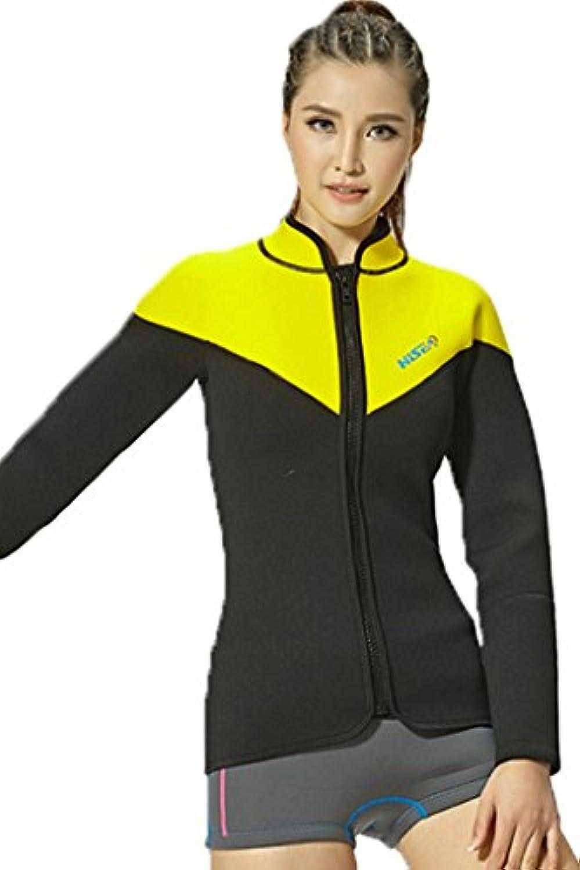 Cokarレディースウェットスーツジャケットwithファスナーの暖かさネオプレンダイビングスーツ