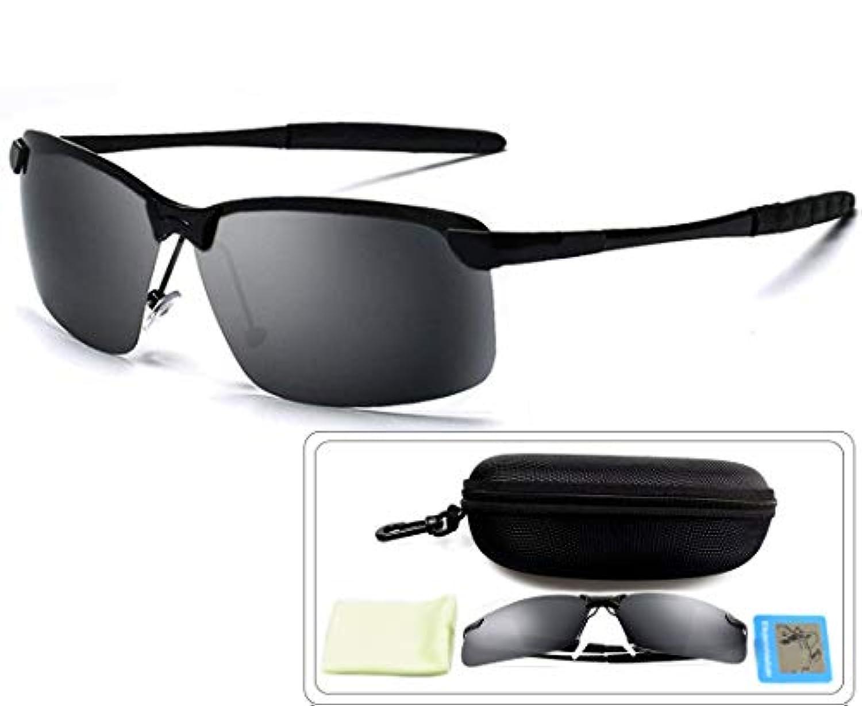 偏光レンズ,LINECY 超軽量 アウト愛好者へ メンズレディース UV400 紫外線カット 偏光 レンズアルミ-マグネシウム合金 TR90