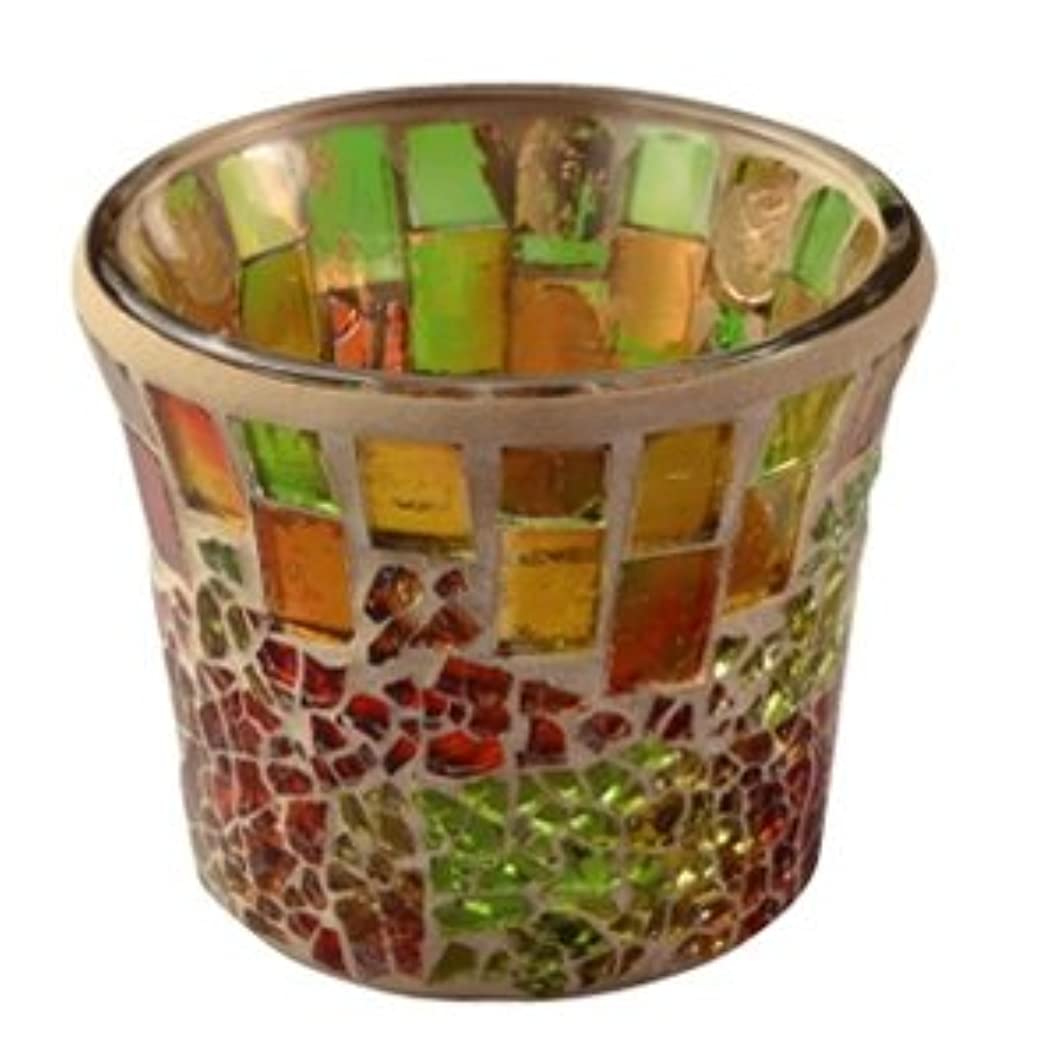 例示するリラックスうなずくキャンドル モザイクカップ クラシーク