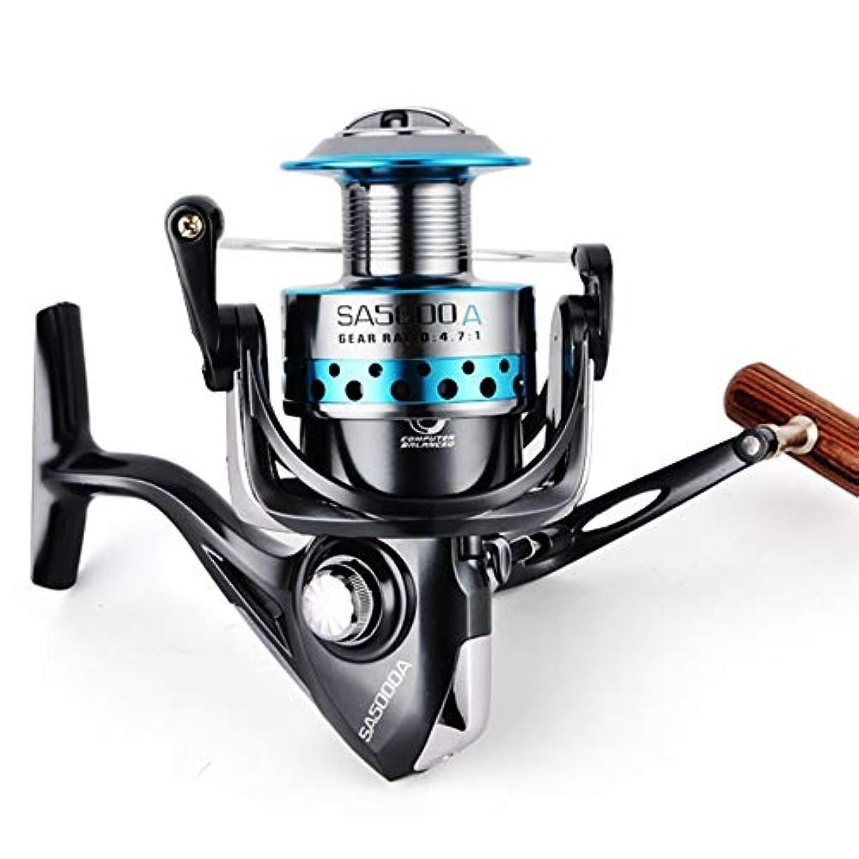 ブロッサム団結主張釣りリール 超軽量ファーストフレームフィッシングリールブラック 海釣 (Color : Black, Size : 3000)