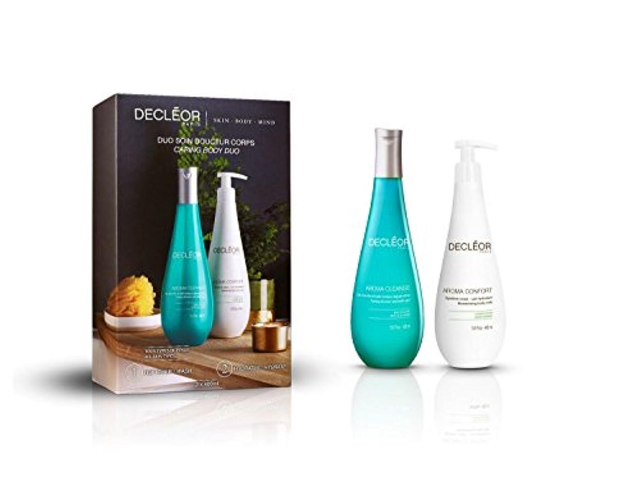 まばたき溶岩桁デクレオール Caring Body Duo : Aroma Cleanse Toning Shower & Bath Gel 400ml + Aroma Confort Moisturising Body Milk 400m...