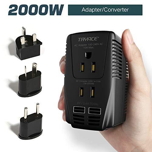 TRYACE海外旅行用変圧器 2000wハイパワー UK/A...