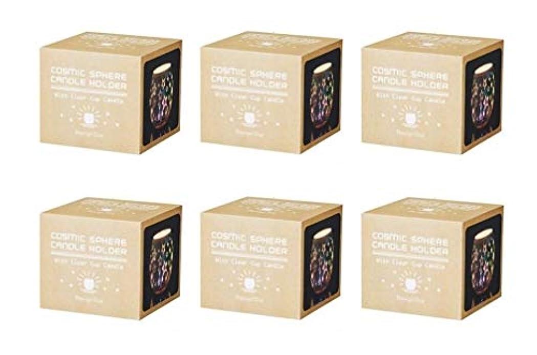 誘導ばかげたダルセットカメヤマキャンドルハウス コズミックスフィア SJ5680020 スター 6個入り