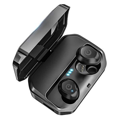 最新版 Bluetooth 5.0 120時間連続駆動 ワイヤレスイヤホン Bluetooth ワイヤレス イヤホン IPX7完全防水 Bluetooth イヤホン 3500mAh充電式収納ケース付き 120時間連続駆動 SBC / AAC対応 Hi-Fi 高音質 3Dステレオサウンド Bluetooth ワイヤレス イヤホン ノイズキャンセリング 左右分離型 ブルートゥース イヤホン マイク内蔵 自動ペアリング Siri対応 iPhone/ipad/Android適用