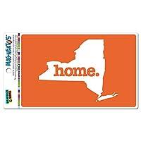 ニューヨークNY ホーム州 MAG-NEATO'S(TM) ビニールマグネット - 固体オレンジ