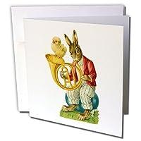 キャッシー・ピーターRabbits–Rabbit and Chickヴィンテージ–グリーティングカード Set of 12 Greeting Cards