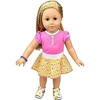 Vibola 人形用衣装 ドールアクセサリー 18インチ用美しいドレス Our Generation American Girl Doll(靴と人形は含まれません) 18 inch レッド Vibola® 2515