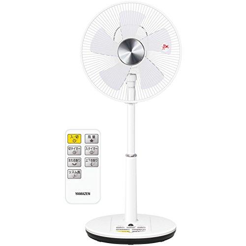 山善 30cmリビング扇風機 立体首振り (リモコン)(風量3段階) 入切タイマー付 ホワイト YLRX-BK303(W)