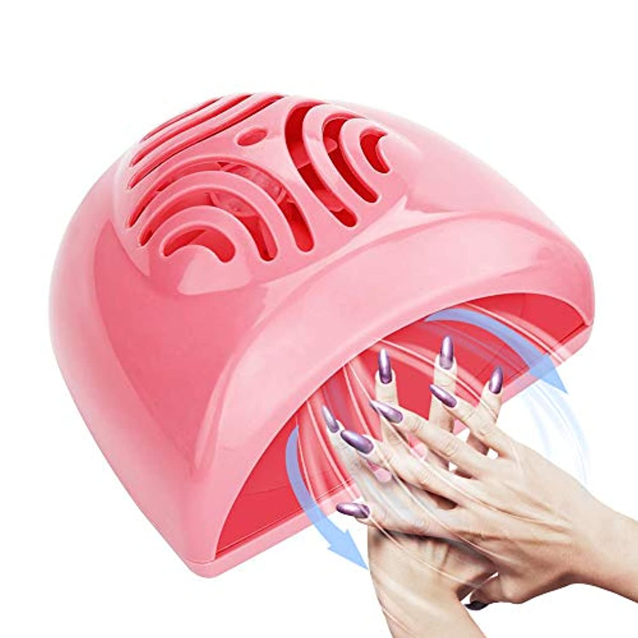 ヒゲ主婦推測ネイルドライヤー ファン 扇風機 マニキュア 速乾 ネイル乾燥機 ポリッシュ乾燥用 持ち運びやすい 旅行 シルバー ピンク (ネイルジェルの硬化できない)(ピンク)