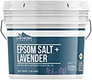 Lavender Epsom Salt (1 Gallon Bucket), Infused with Lavender Essential Oil, Promotes Relaxation & Sleep, S