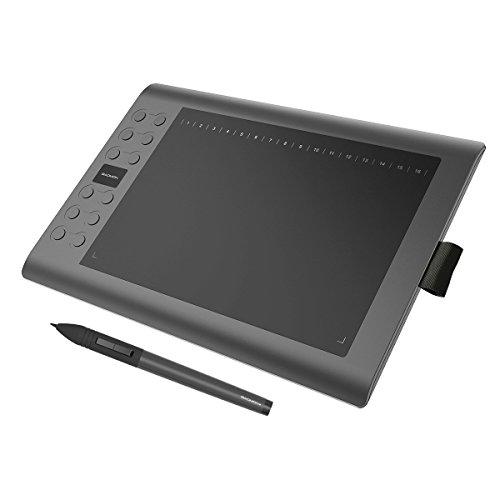GAOMON M106K-WindowsとMAC対応 10 x 6インチペンタブレット充電式ペン付き