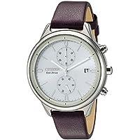 Citizen Women FB2002-08D Year-Round Chronograph Solar Powered Beige Watch