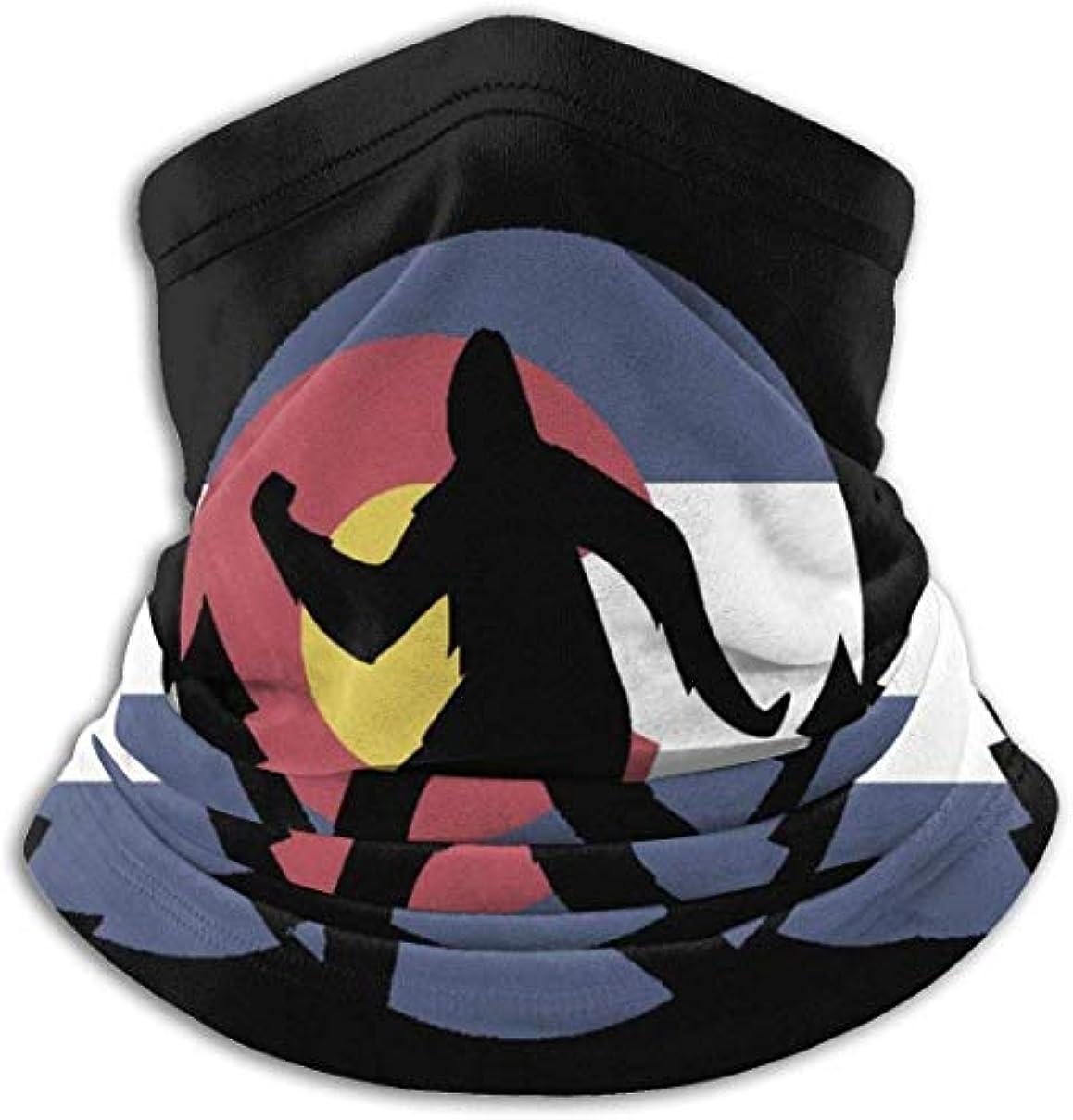 。体細胞膨らませるコロラド州ビッグフットフラグ ネック暖かいスカーフ サーマルネックスカーフ マイクロファイバーネックウォーマー ネックウォーマー マフラー 帽子 ヘッドバンド 秋冬 防寒 防風 キャップ 多機能 ネック ゲーター 男女兼用