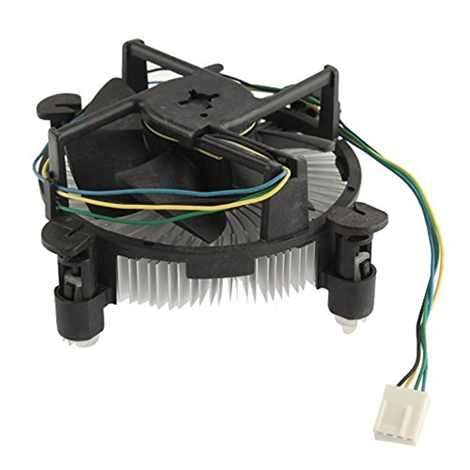 規定ブラウザエッセイヒートシンクファン 775 CPUショートスリーブベアリング冷却ファン、4ピン コンピュータコンポーネント