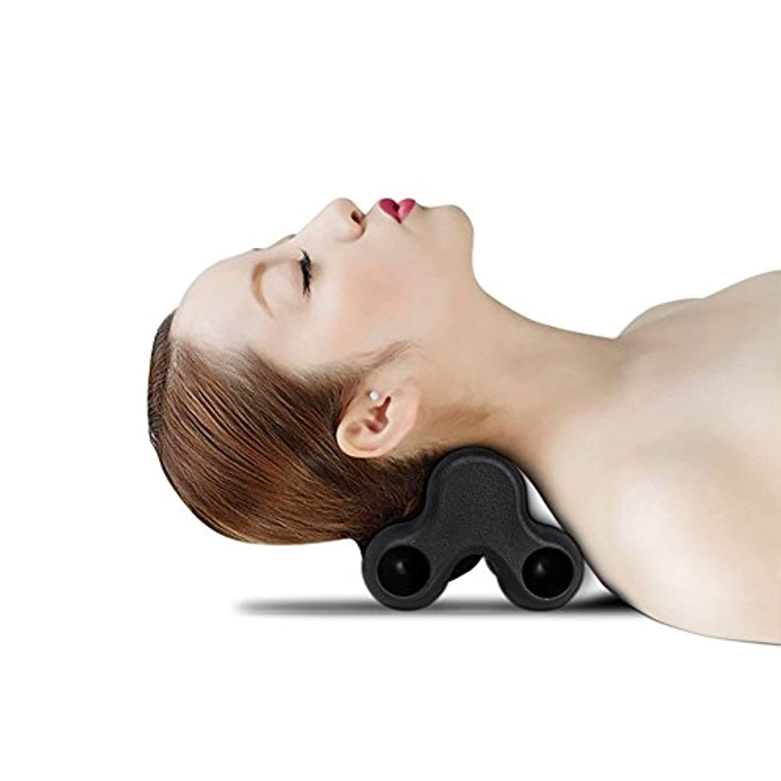 叙情的な統計的マスクSYNC ツボ押し グリグリ 強力 マッサージ 枕 指圧感 ピロー ツボ 多用途 (ブラック)