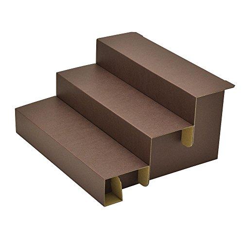 ディスプレイ 44-5802 オリジナルワークス 3段飾り棚 組立式 ブラウン 3個