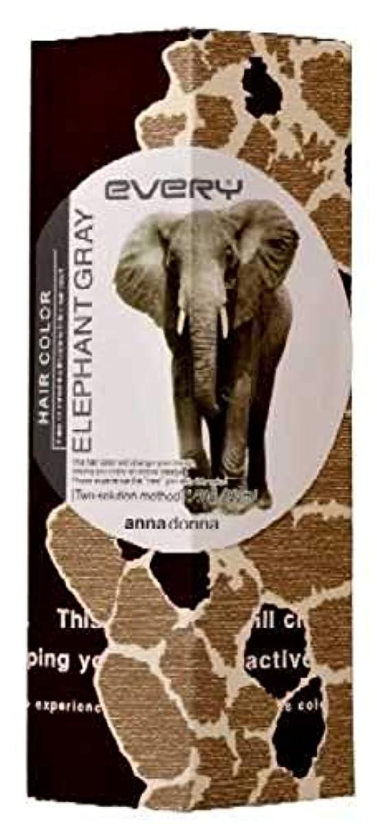 是正する欠乏バラ色アンナドンナ エブリ ヘアカラー (エレファントグレー) 1剤40g 2剤80ml 【HTRC5.1】