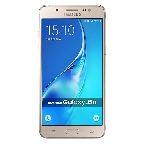 SIMフリー Samsung Galaxy J5 (2016) Dual J5108 4G LTE (Gold/ゴールド) 並行輸入品