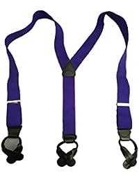 サスペンダー Y型 Yバック メンズ 紳士 USA製 Brace ブレイス ブレイシーズ ボタン止め エラスティック 伸縮素材 Purple パープル 紫 B223